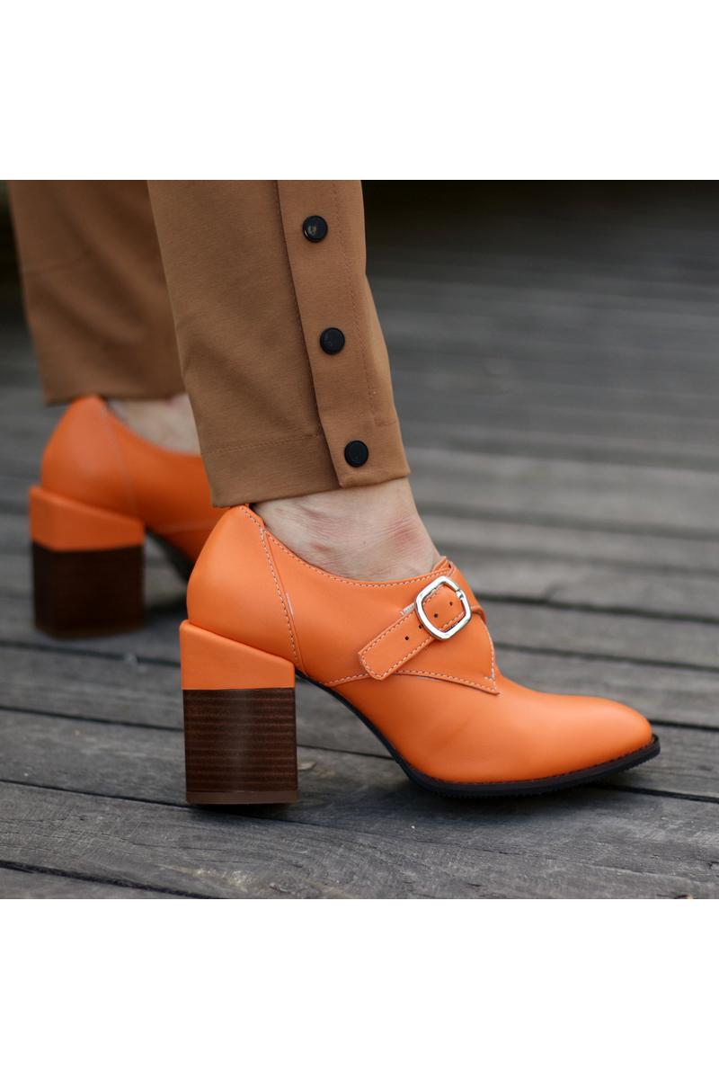 Buy Fall Winter Block Heels Pumps Women Buckle Shoes