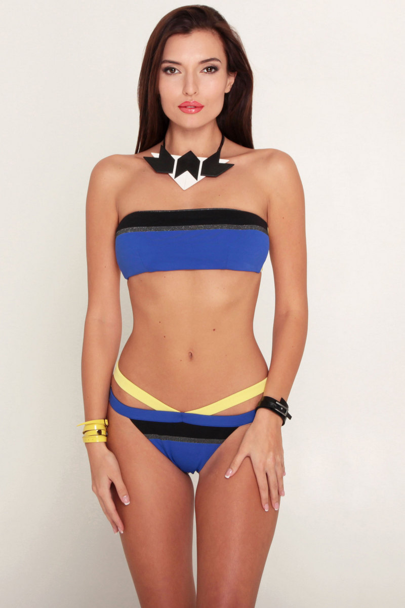 Buy Beach Bandeau Blue women's two piese swimsuit, Sexy summer swimsuit, Stylish swimwear for ladies