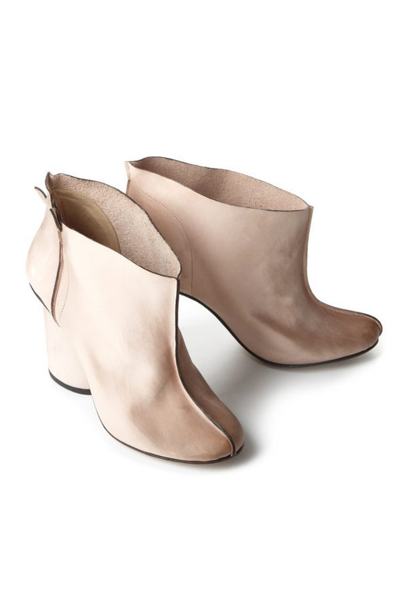 Buy Beige women`s comfortable leather stylish ankle boots, Designer original shoes