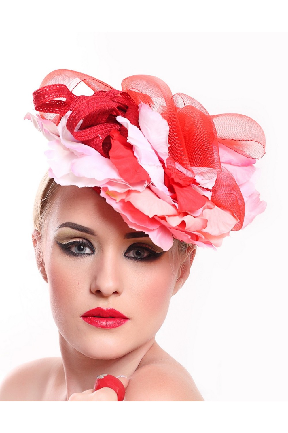 Buy Flower hat for summer evening, Exclusive designer unique stylish hat for the holiday