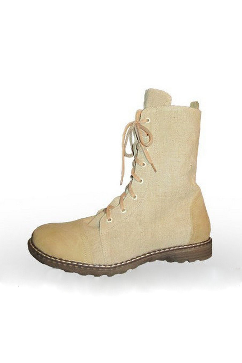 Buy Men's eco military high-top hemp bootlace boots, Hemp unique designer shoes