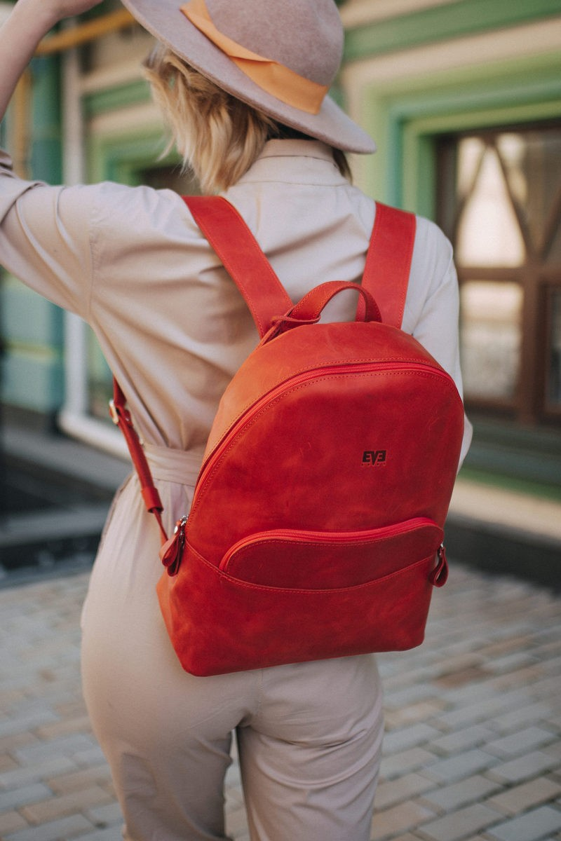 Buy Designer leather classic universalbackpack, women`s city urban casual backpack