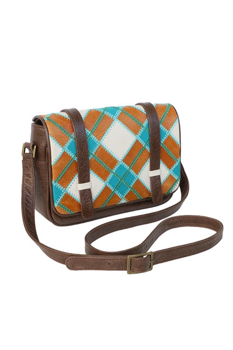 Buy Leather Women's Small Tartan Stylish Crossbody Bag