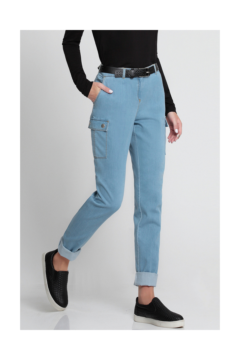 Buy Blue cotton women casual pants, Skinny stylish denim jeans for everyday, designer comfort pants