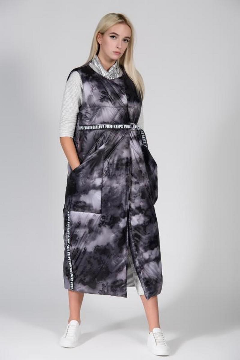 Buy Double sided long warm vest, casual women stylish unique designer winter vest