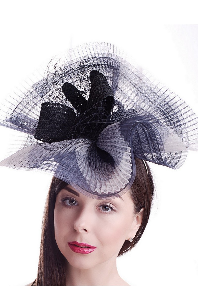 Buy Evening women's gray hat, Exclusive unique stylish hat for the holiday