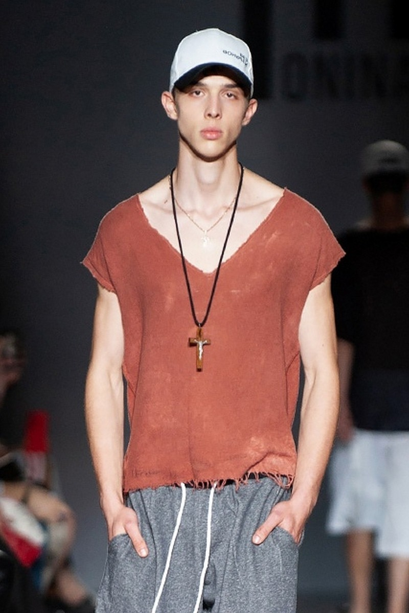 Buy Sleeveless Cotton TERRACOTTA grunge t-shirt, comfort stylish casual party designer exclusive V neck tee