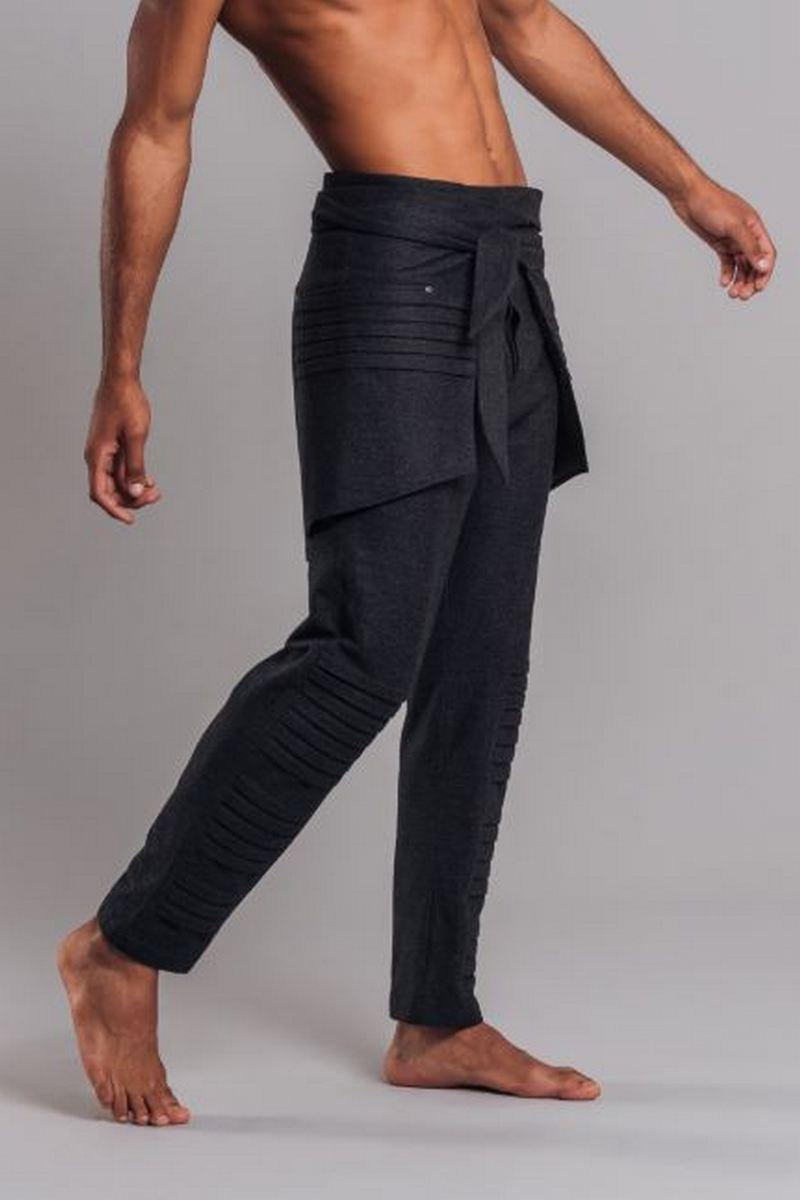 Buy Cotton Gray Men`s Pants Skirt, Men Casual Pants Trousers