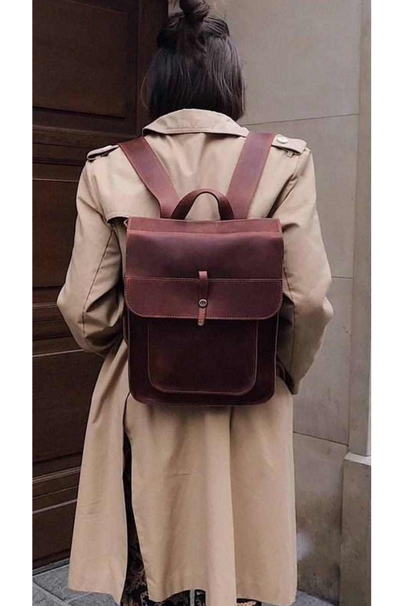 Buy School leather comfortable city backpack, Stylish women men casual backpack