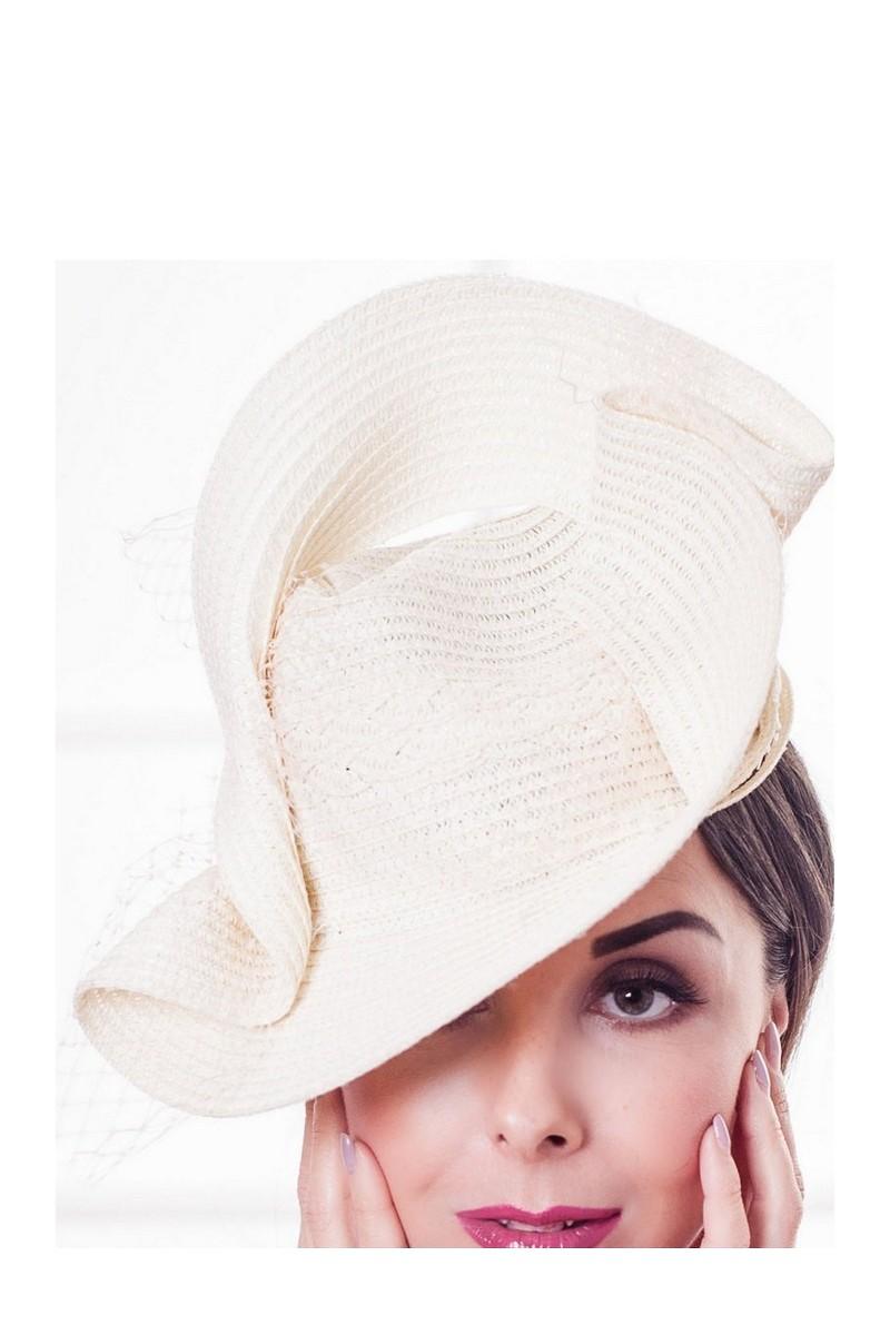 Buy Beige evening elegant women`s stylish designer retro straw hat