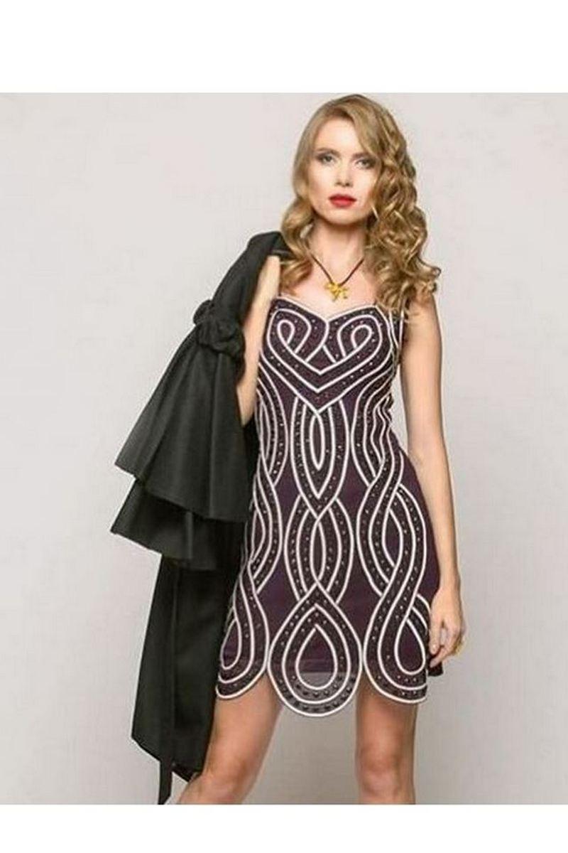 Buy Women's Elegant Sleeveless Swarovski crystals Cocktail Party Dress