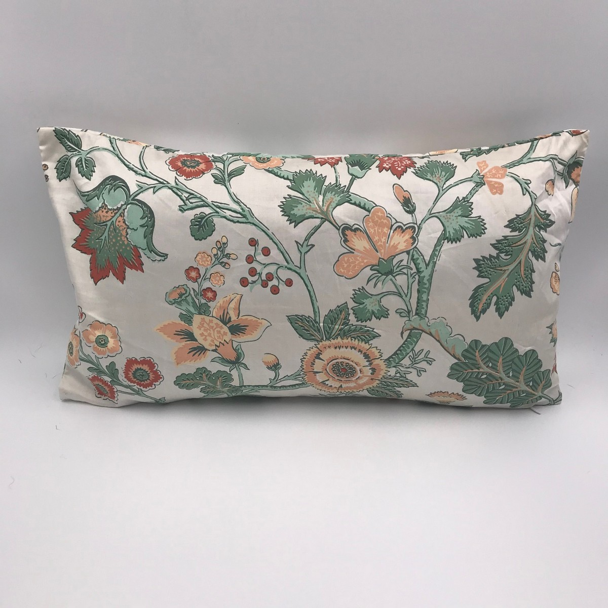 Buy Handmade floral print pillow vintage style, Сotton pillow style 60s, Сraftsman's pillow, Hand made decorative pillow
