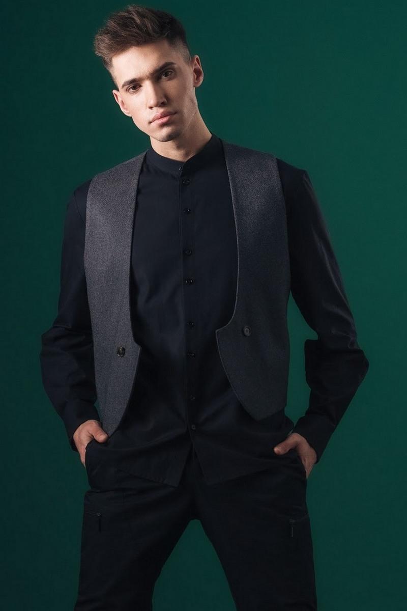 Buy Shirt Men Black 100% cotton Long Sleeve Buttons Dress Shirt Regular Fit Solid