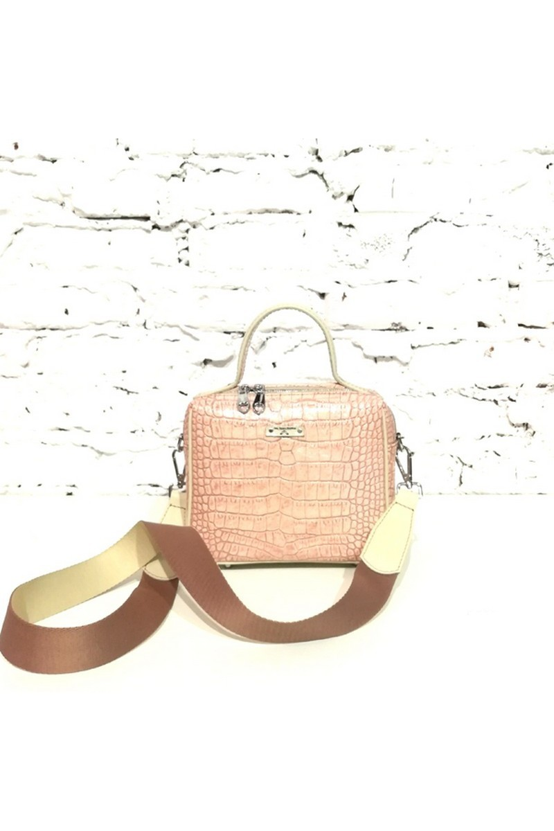 Buy Bag small square leather pink, stylish casual office women handbag shoulderbag