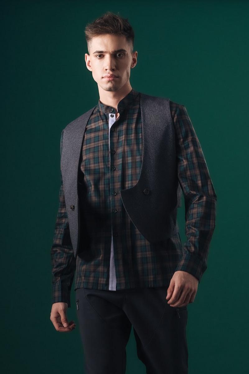 Buy Grey Men Wool Short Vest Fashion Formal Dress Vest Slim