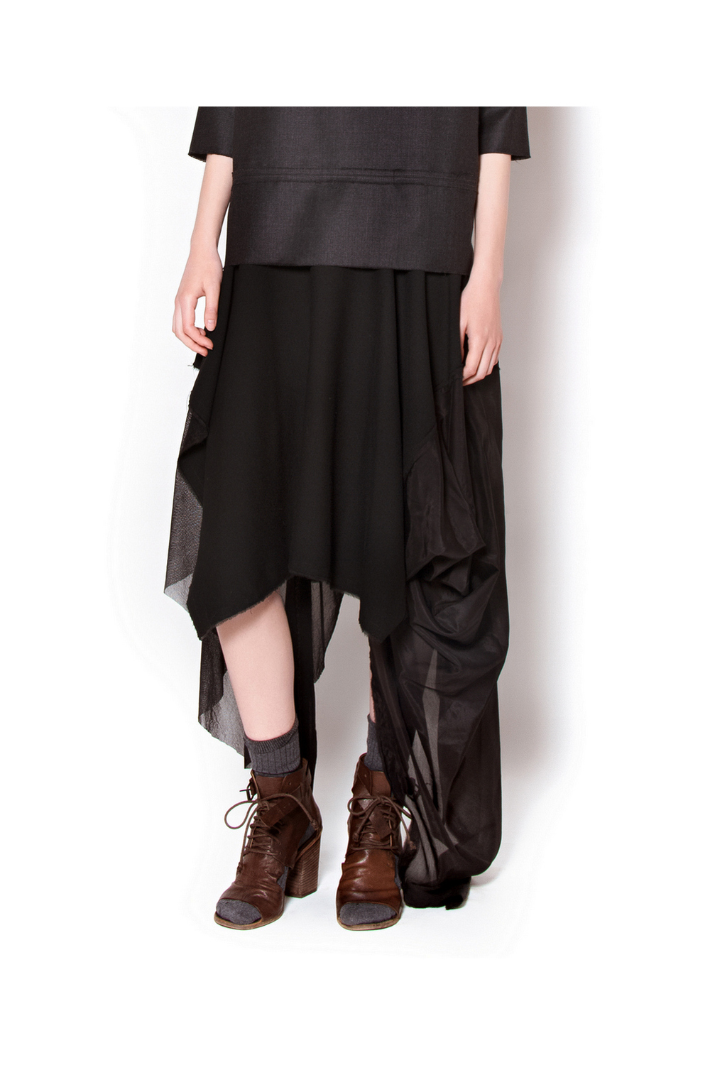 Buy Black women's comfortable silk chiffon everning skirt, Designer skirt for ladies