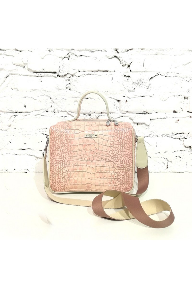 Buy Leather pink square medium handbag, stylish women casual unique design shoulderbag