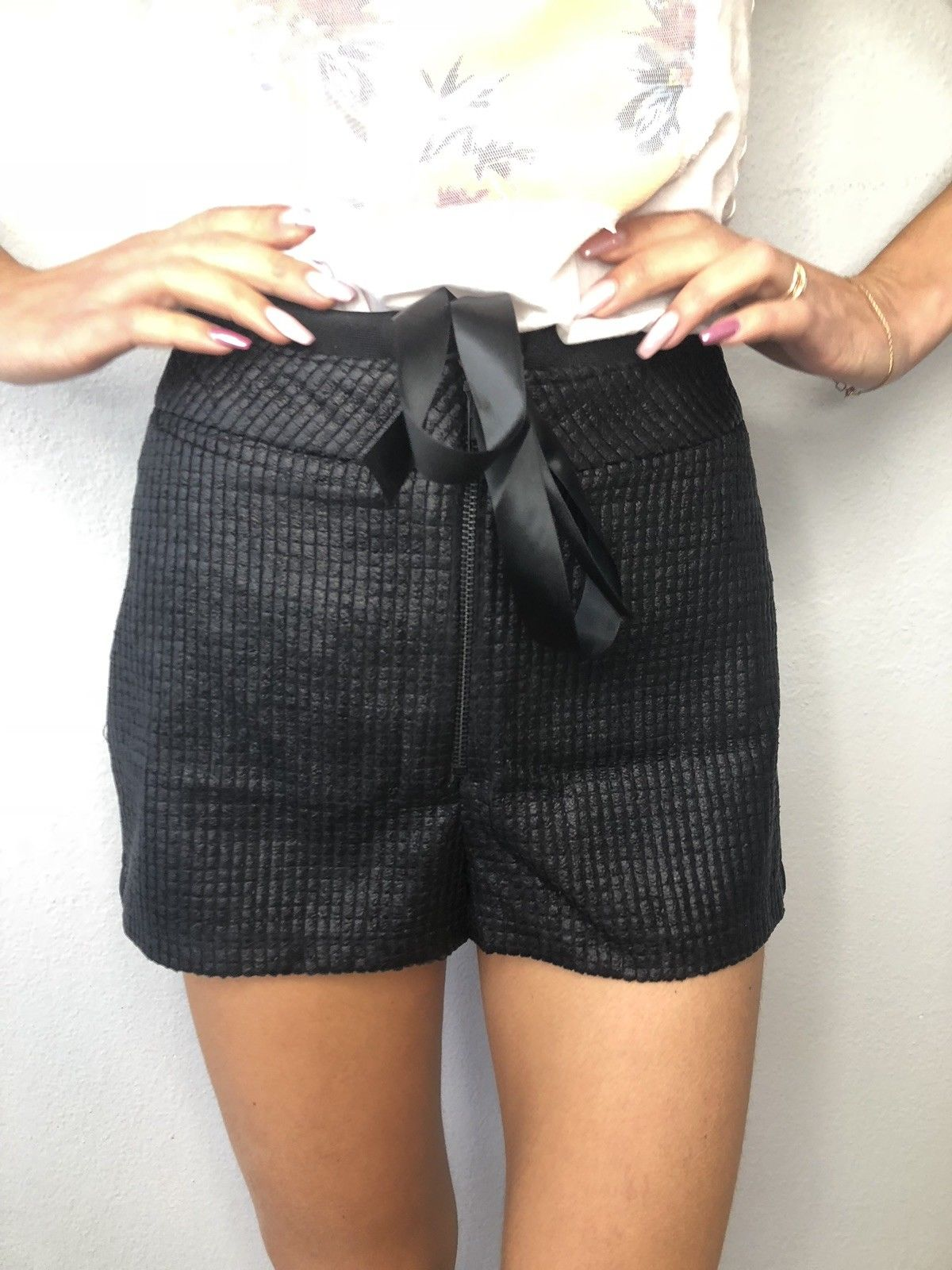 Buy Victoria Rainer High Waisted Shorts , Black Hand Made Shorts Women Size XS,S,M,L