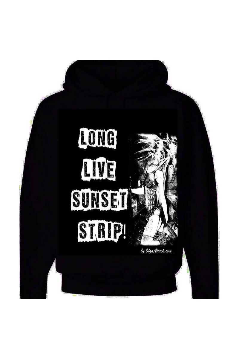 Buy Rock Punk Moto Bike Black Cotton hoodie, Long Live Sunset Strip