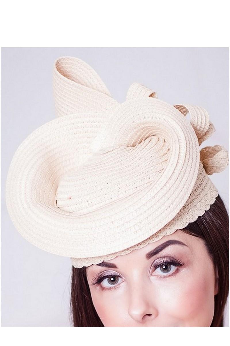 Buy Straw retro beige evening elegant women`s stylish designer hat