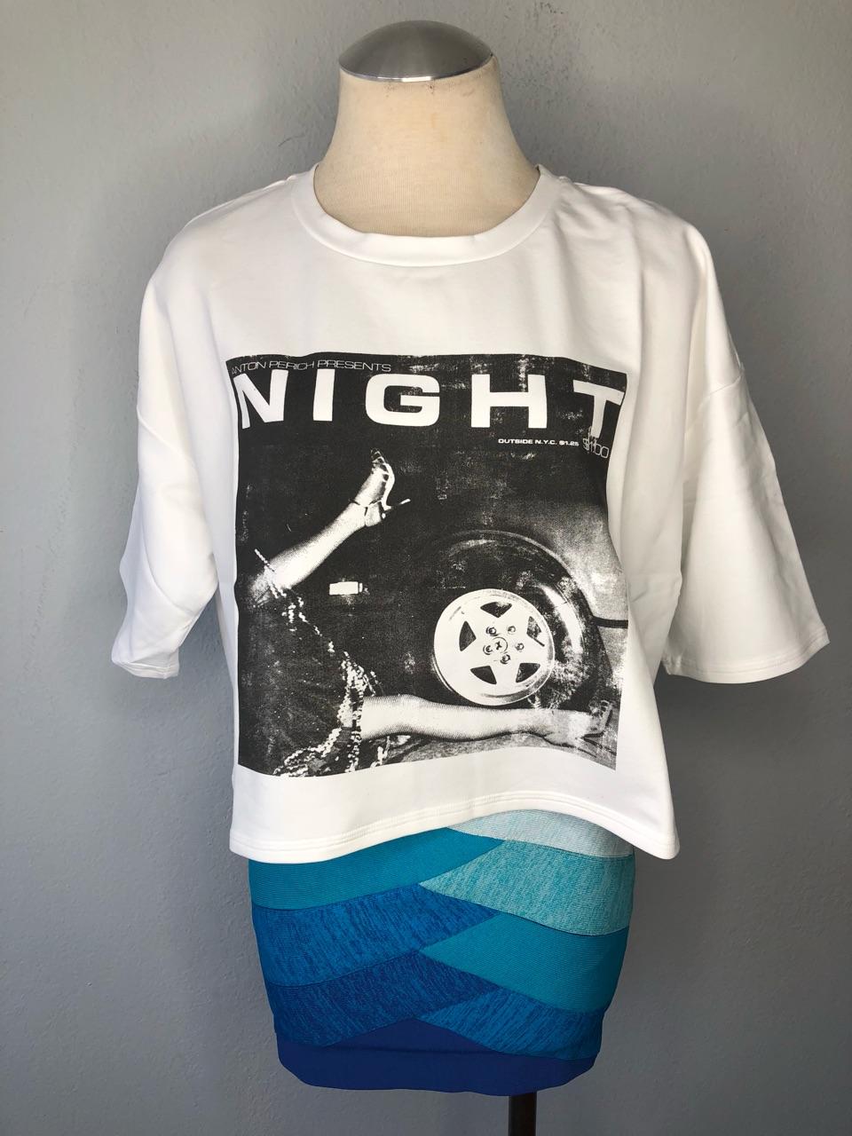 Buy Women's white cotton cropped t-shirt