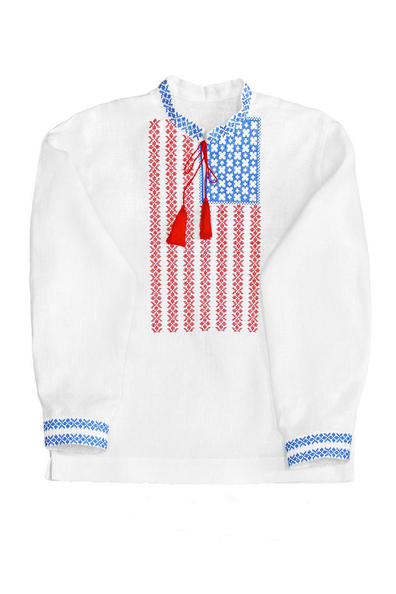 Buy Men's white linen Ukrainian original unique embroidery, vyshivanka for men