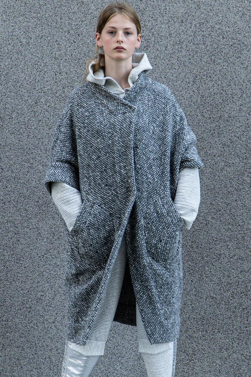 Buy Gray warm loose wool coat, Stylish winter casual comfortable coat