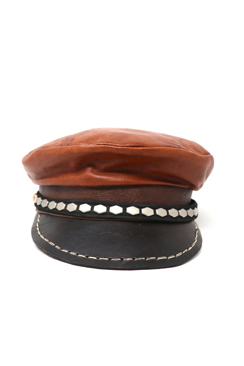 Buy Brown Sailors Hat, Leather Stylish Festival Casual Hat, Captain's Cap
