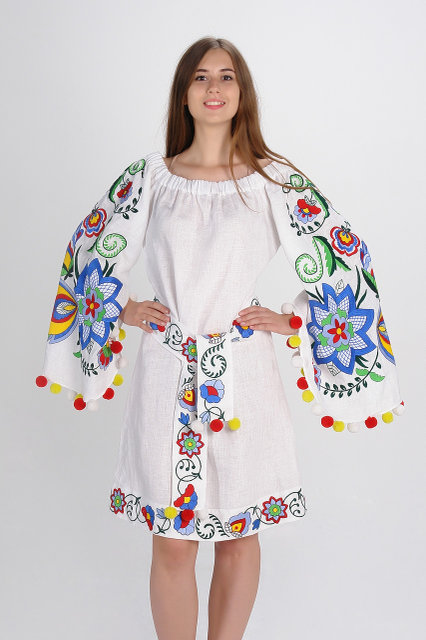 Buy Luxurious Ukrainian dress with embroidery, vyshivanka