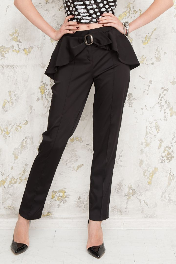 Buy Cocktail Black women`s pants, Elegant trousers