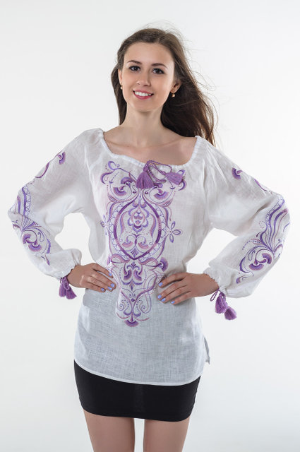 Buy Embroidered Ukrainian folk linen blouse