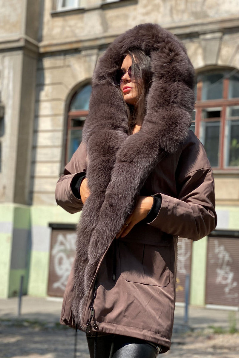 Buy Women's Down Jacket Winter Long Parka Coat with Real Fur Hooded