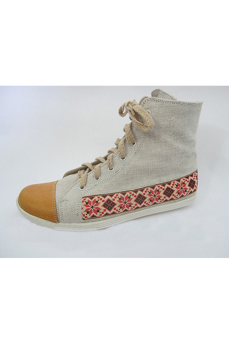 Buy Sneakers ethnic women men comfortable vegan eco hemp leather laces, Hemp unique designer shoes