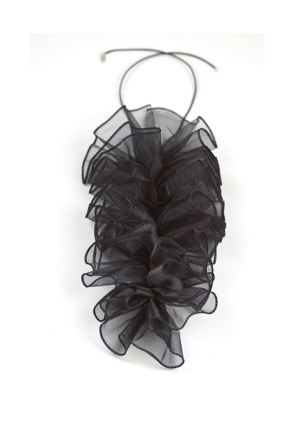 Buy Organza rubber handmade black contemporary statement necklace