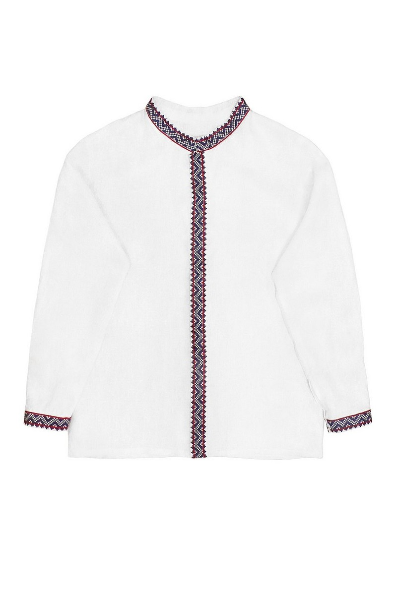 Buy Flaxen Ukrainian authentic ethnic unique men's embroidered vyshivanka shirt