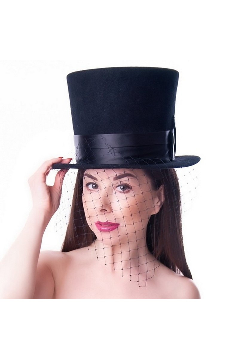 Buy Women Costumes Top Hat Black