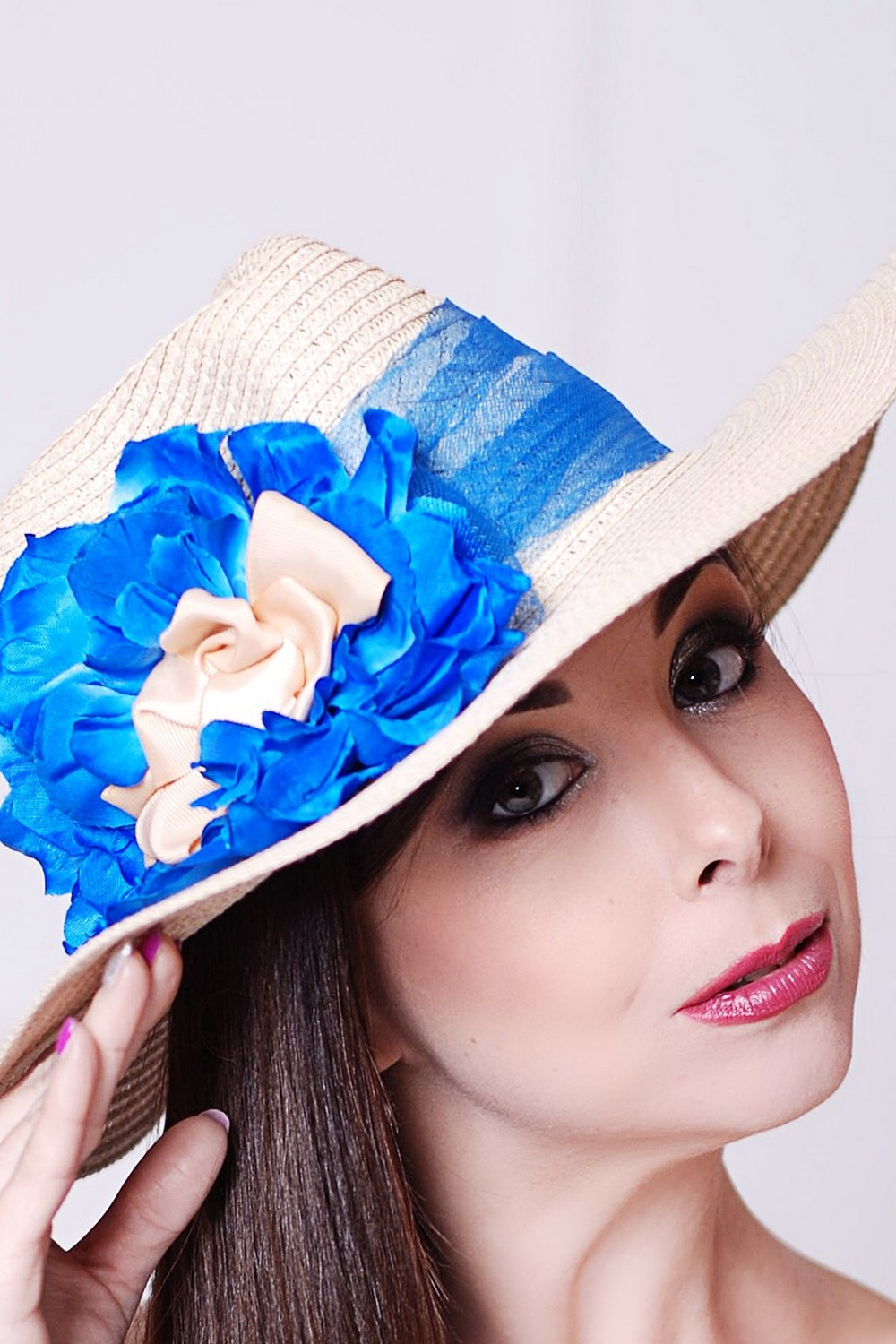 Buy Summer women's straw fedora hat, Exclusive unique stylish hat for the holiday