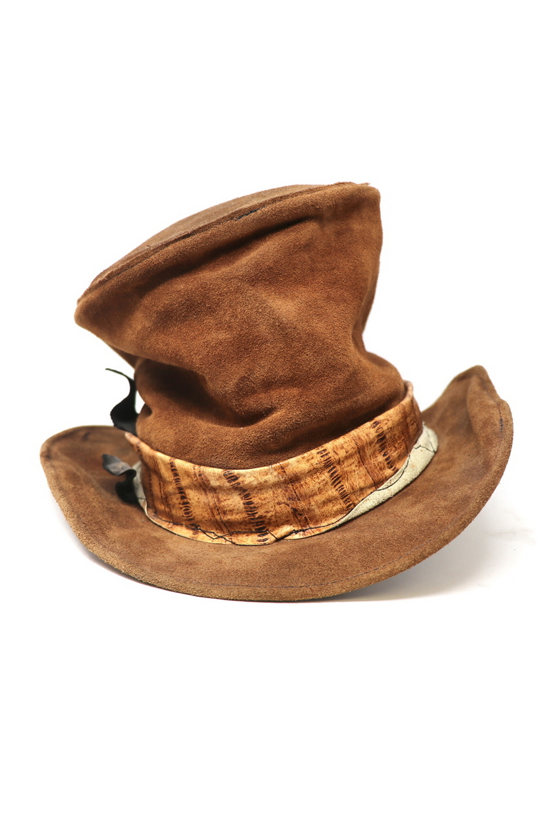 Buy Brown Mad Suede Hat, Men`s stylish Rock Rocknroll music festival accessories