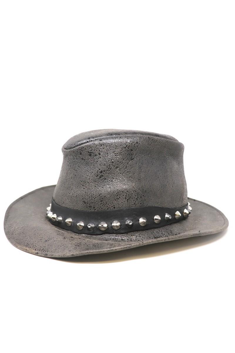 Buy RocknRoll Fedora Black Leather Hat, Music Rock festival accessories