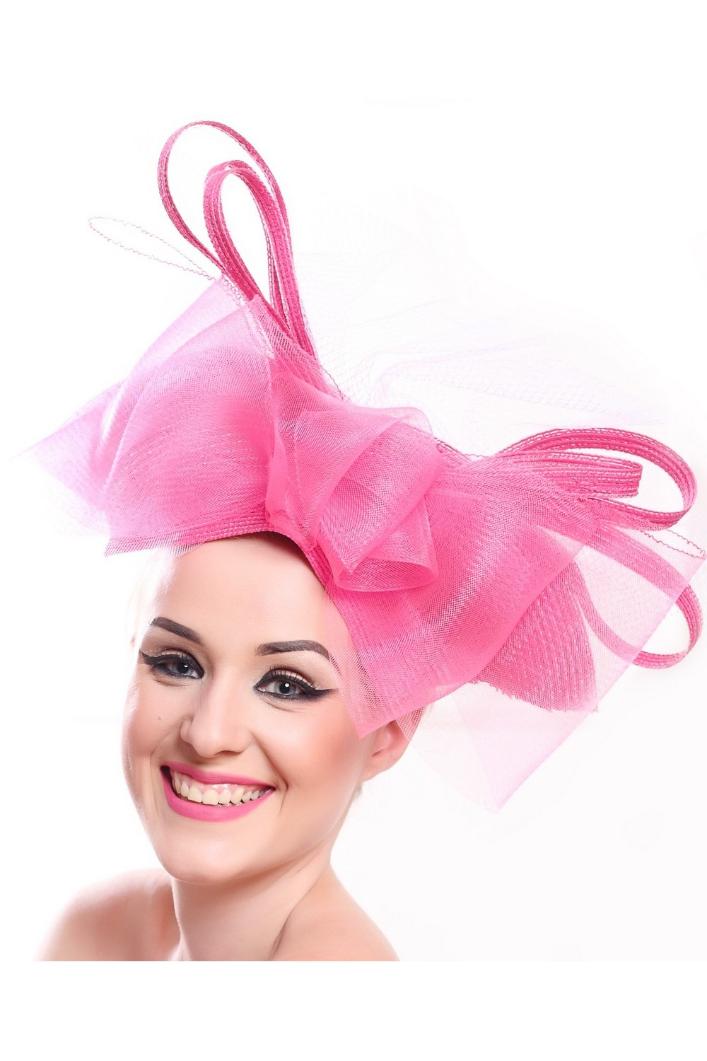 Buy Pink summer women's designer mesh hat, Exclusive unique stylish hat for the holiday
