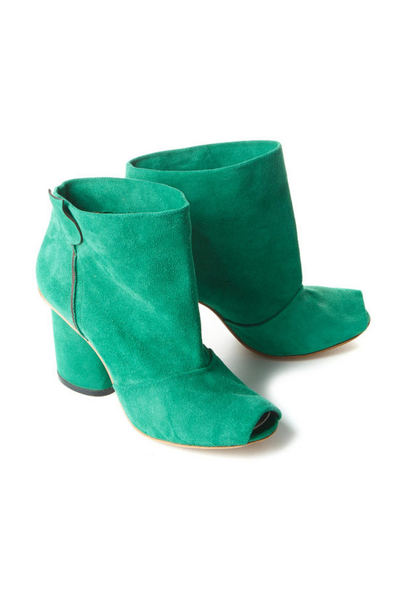 Buy Green women`s comfortable suede stylish ankle boots, Designer original shoes