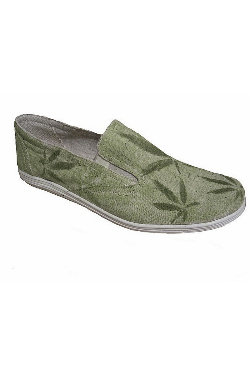 Buy Green hemp eco vegan comfortable elastic men's shoes, Hemp unique designer shoes