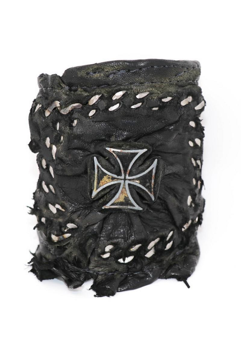 Buy Chins All-Around Black Rockstar Cross Wristband, Rock Punk bracelet, Stylish Rockstar accessories
