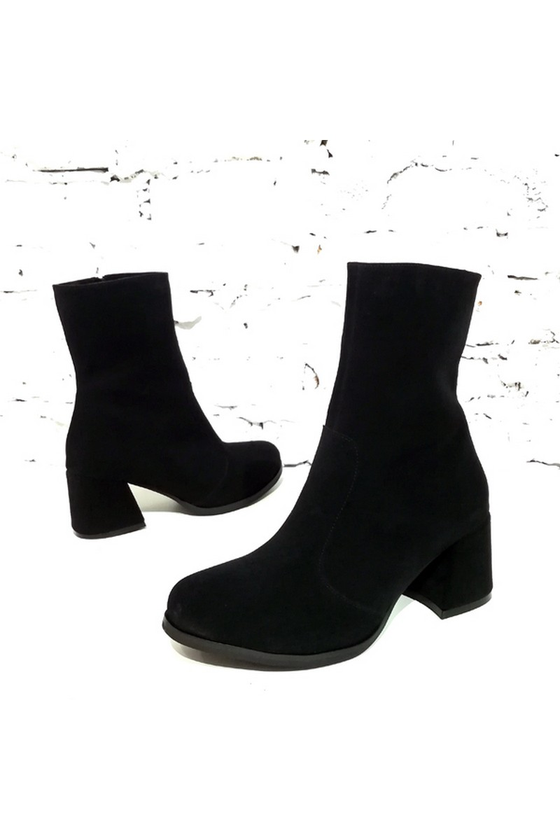 Buy Black women heeled suede boots, comfortable stylish classic boots