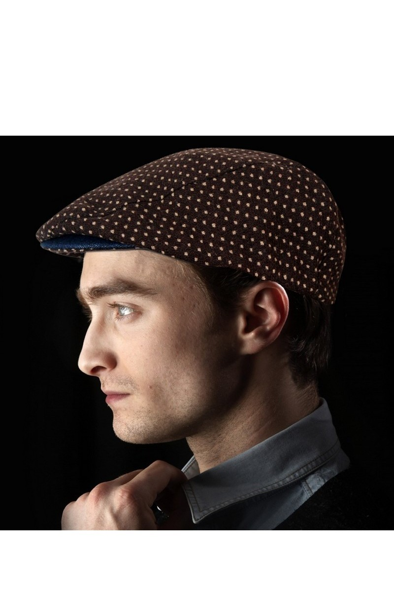 Buy Beret Urban Brown Newsboy Classic Casual Flat Cabbie Ivy Hat Cotton Wool Cap