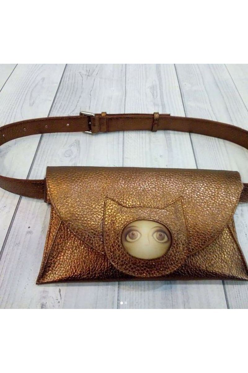 Buy Leather handmade brown clutch, Party Casual stylish designer unique shoulder bag