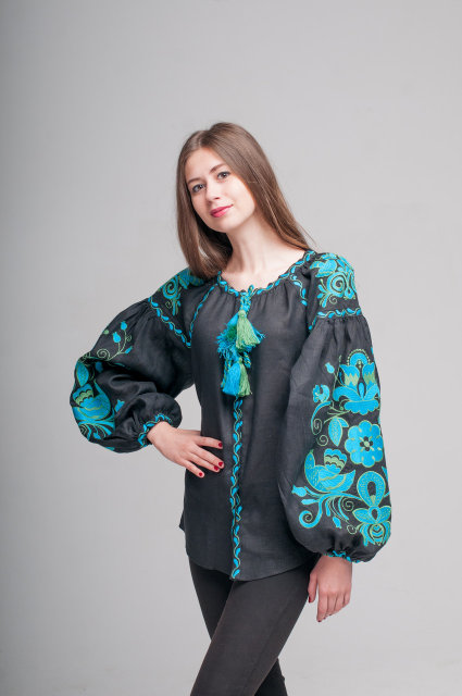 Buy Women's Ukrainian linen embroidery