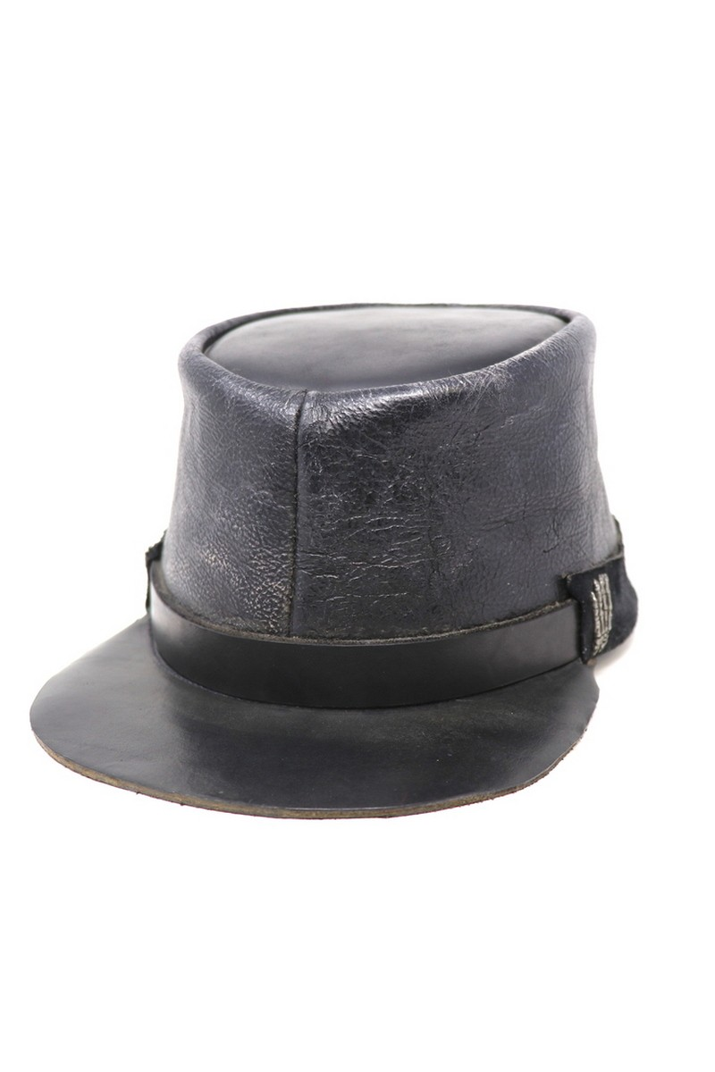 Buy Black Leather Kepi/Hand, Rock festi party military style accessories