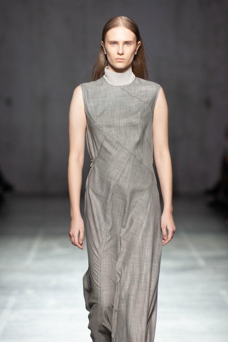 Buy Women's Winter Spring Fall Sleeveless Maxi Dress Grey Original High Neck Dress