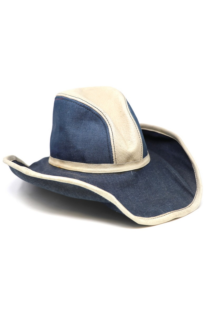 Buy Denim Leather Stylish Outback Hat, Casual festival accessories